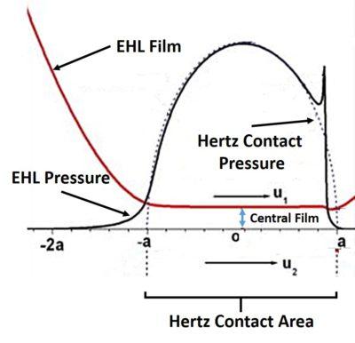 Hertz Vs. Elastohydrodynamic Pressure