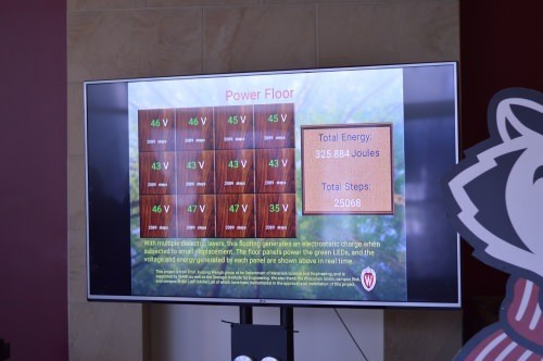 Photo: Display board showing energy captured