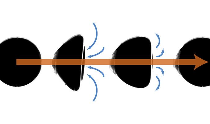 shape changing droplet