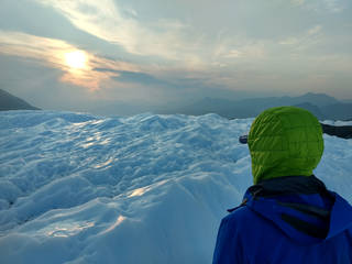 Andy Klesh of JPL scans an area over Matanuska Glacier
