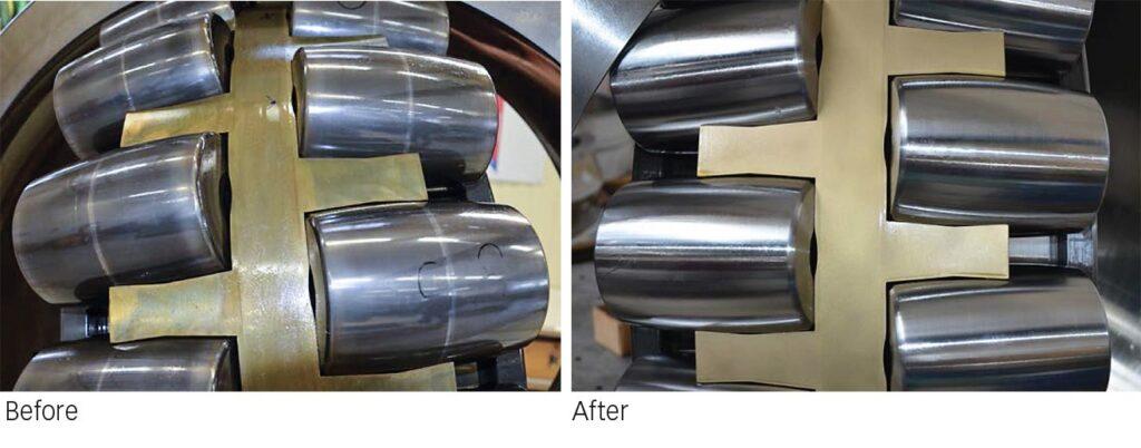 Large-size spherical roller bearing
