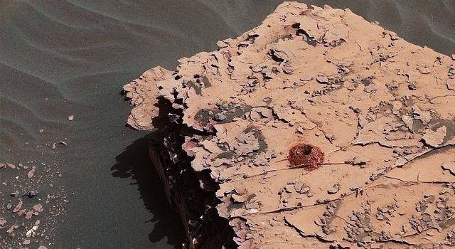 NASA's Curiosity rover successfully drilled a 2-inch-deep hole