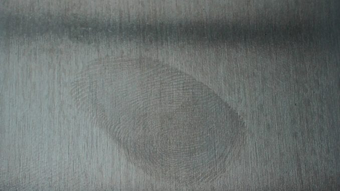 fingerprints on stainless steel and metal surfaces.