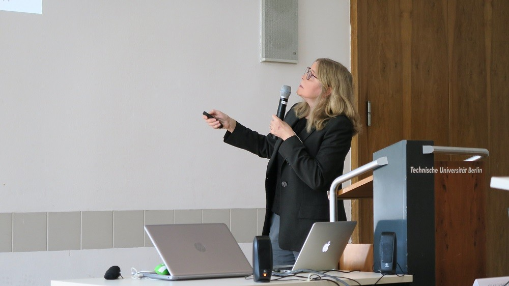 Professor Jacqueline Krim at the Contact Mechanics Workshop