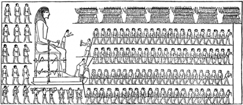 Egyptians pouring water
